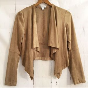 Katherine Barclay Faux Leather Suede Jacket Crop M